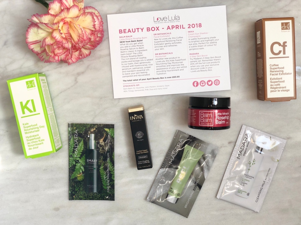 Lovelula beauty box April 2018