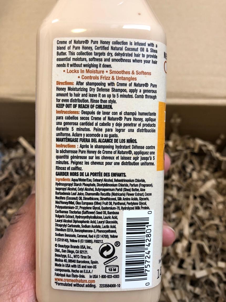 Creme of Nature Pure Honey Moisturizing Dry Defense Conditioner 12oz