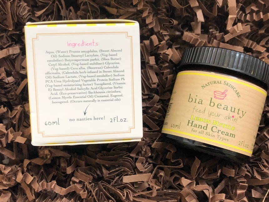 Bia beauty lemon Myrtle hand cream