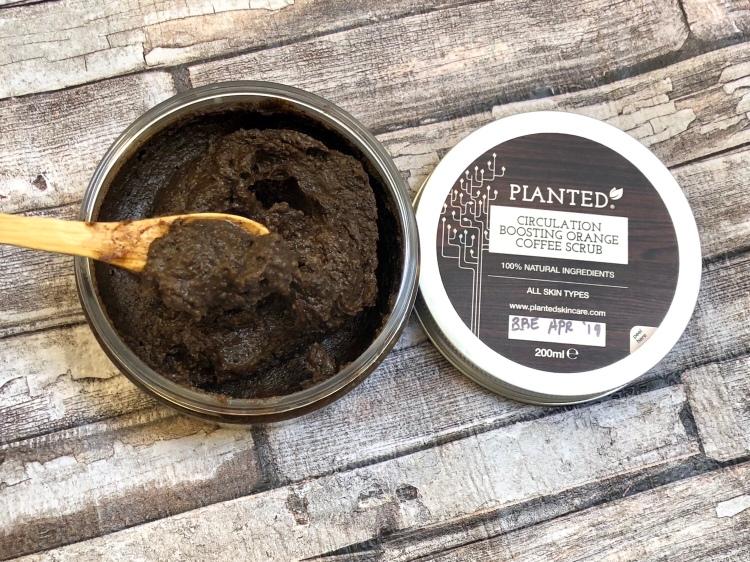 Planted skincare circulation boosting orange coffee scrub