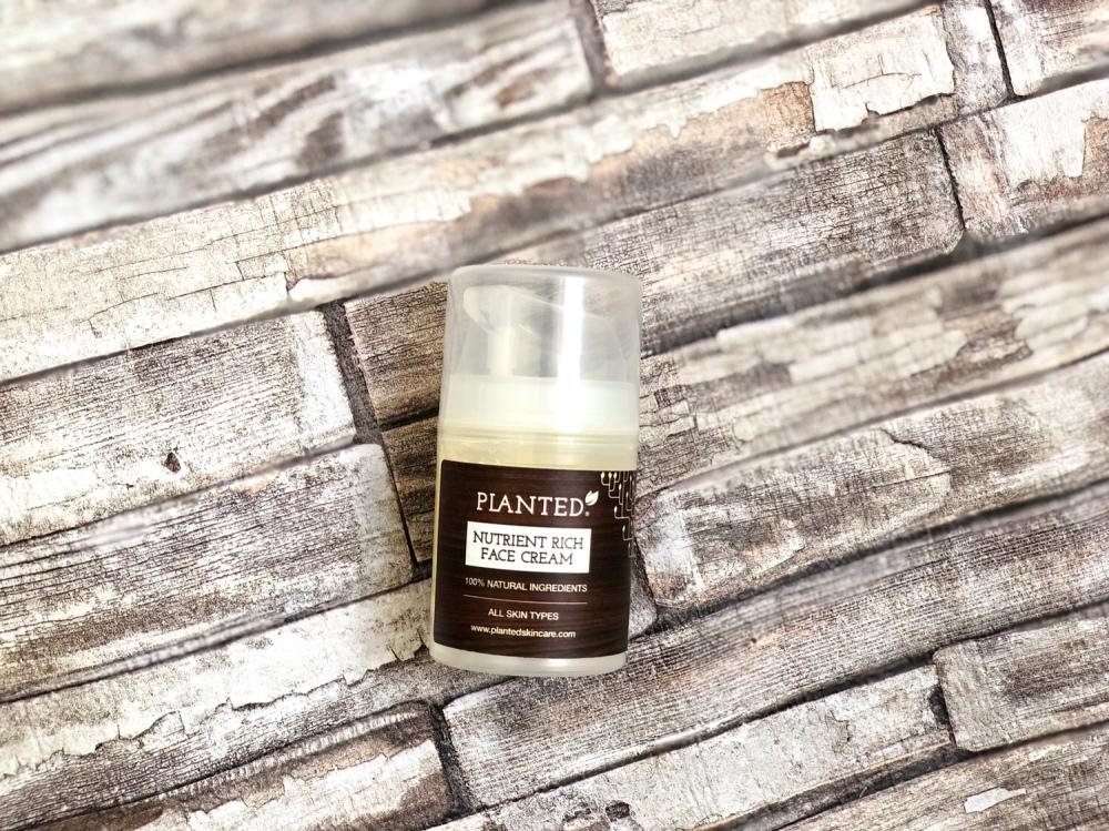 Planted skincare nutrient rich face cream