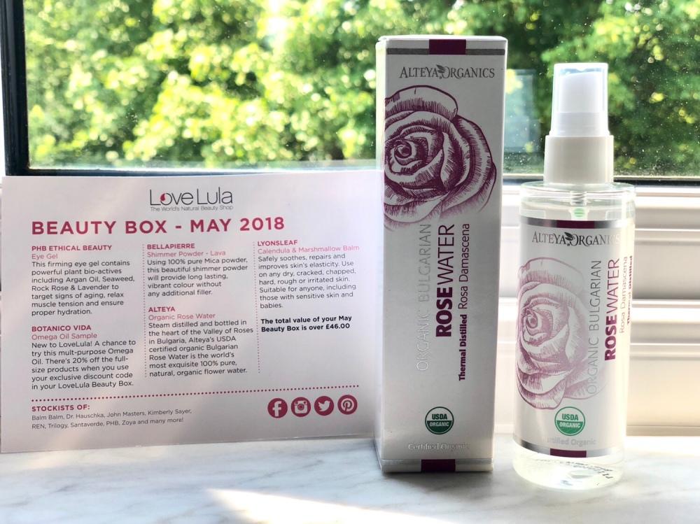 Alteya Certified Organic Bulgarian Rose Water Spray 100ml