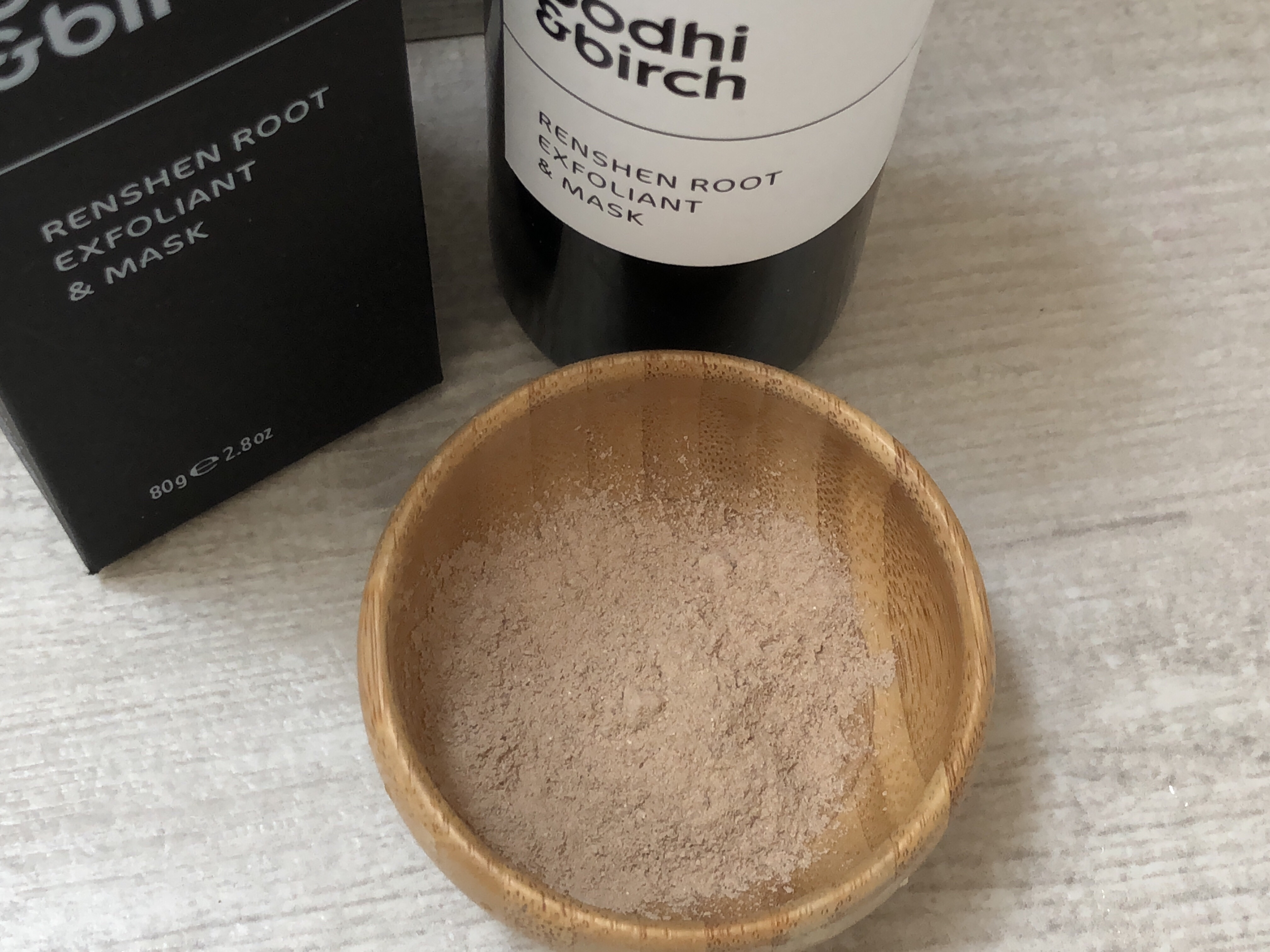 Bodhi & Birch Renshen root exfoliant & mask