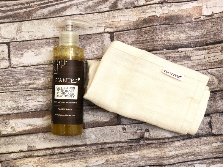 planted skincare oil cleanser with black cumin and raw honey