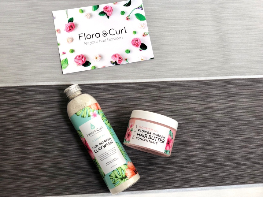 Flora & Curl curl refresh clay wash and flower garden hair butter
