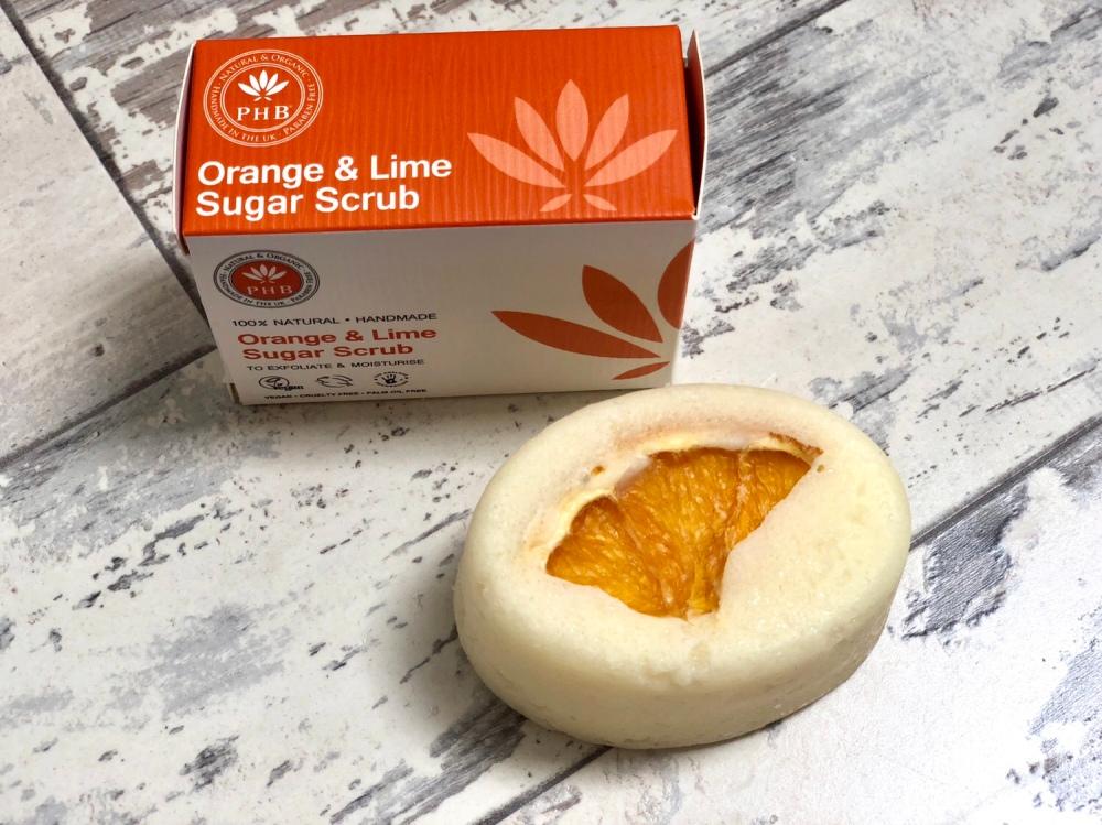 PHB ethical beauty orange & lime sugar scrub