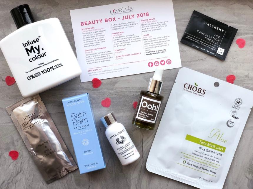 LoveLula beauty box July 2018