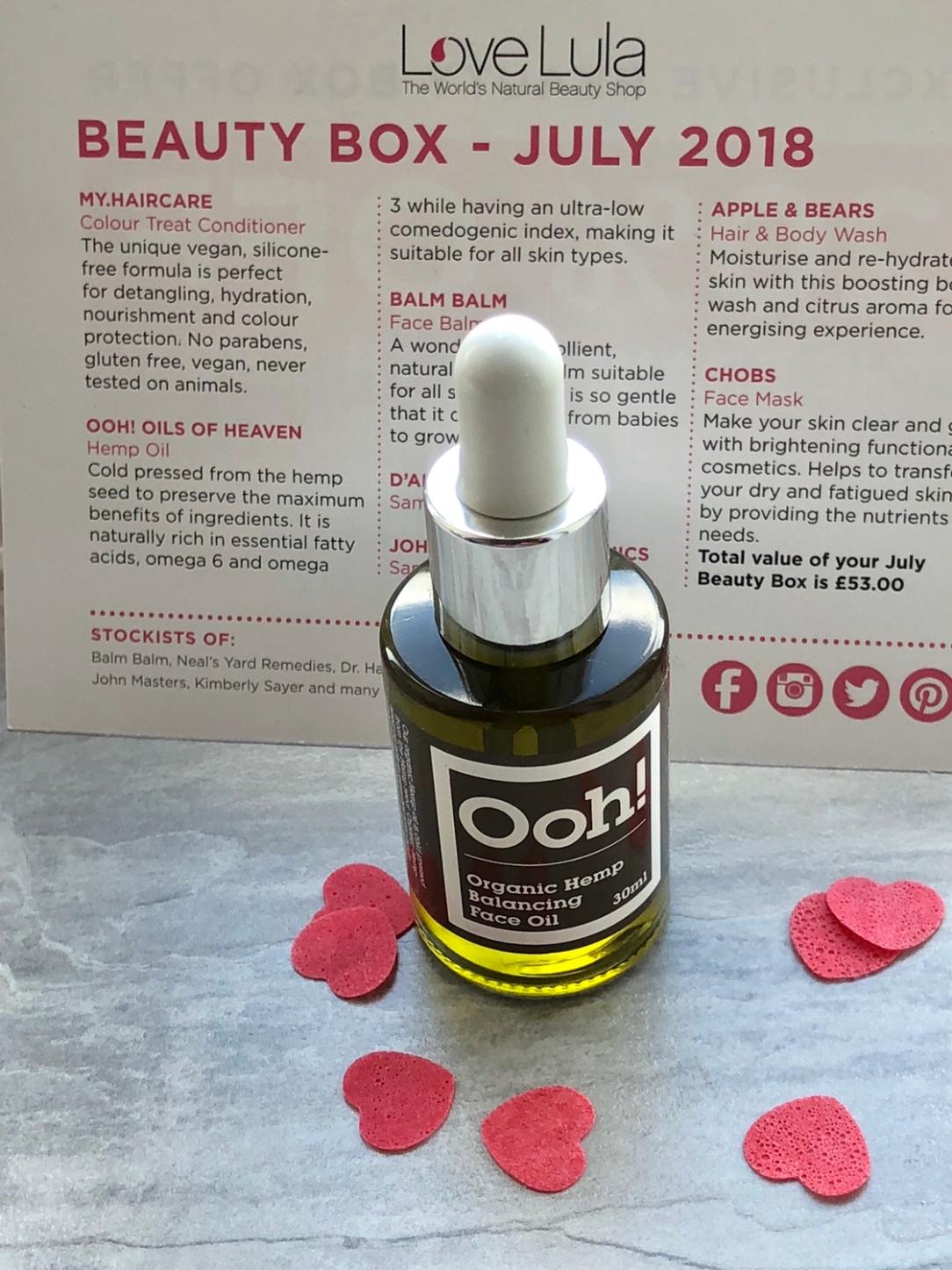 Ooh! Oils of Heaven Organic Hemp Balancing Face Oil