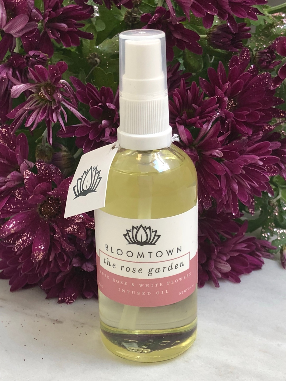 Bloomtown The Rose Garden Musk Rose & White Flowers Infused Oil