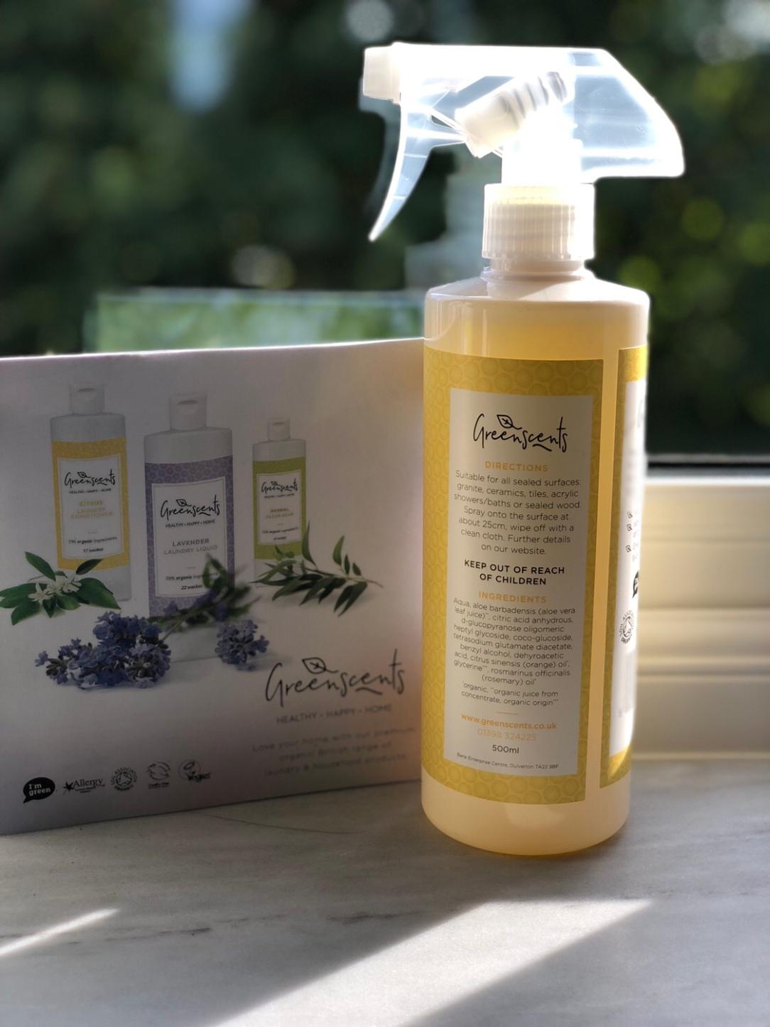 Greenscents citrus multi-surface spray