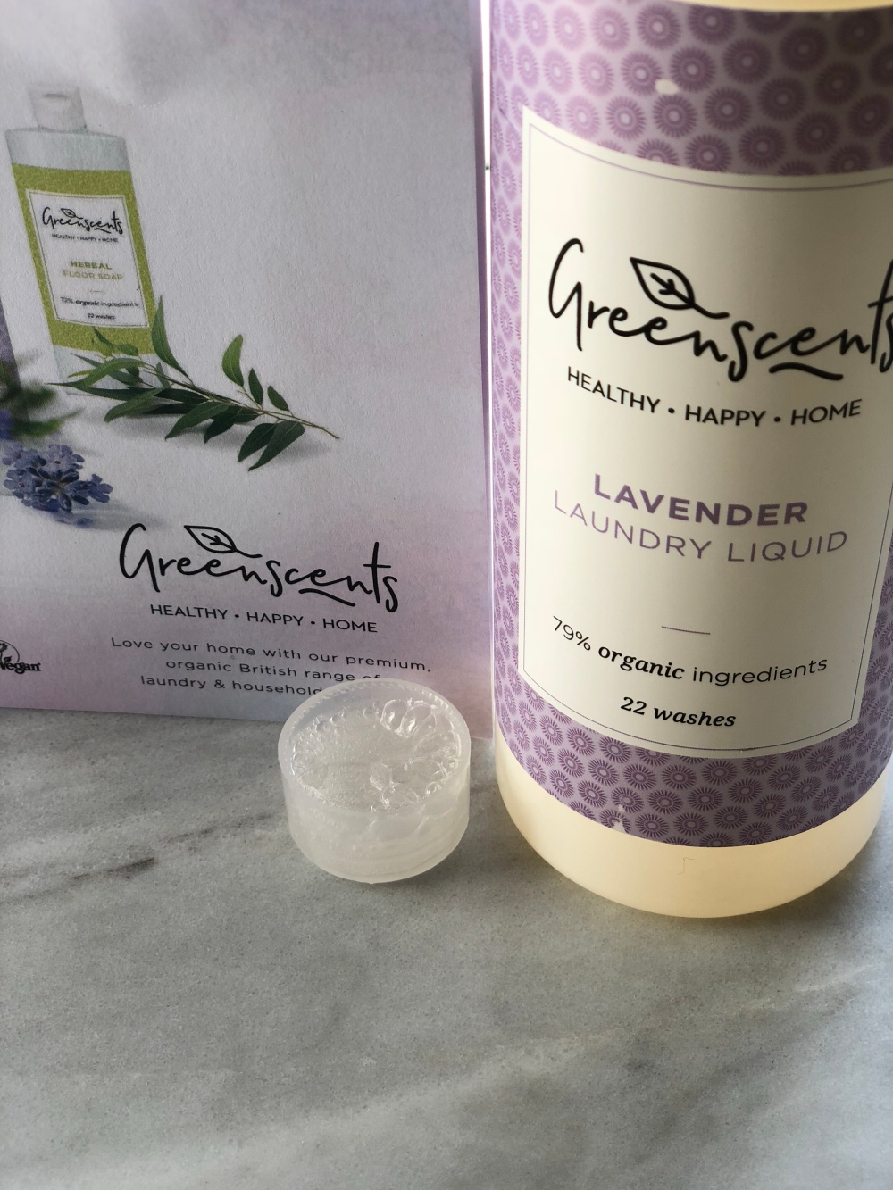greenscents lavender laundry liquid
