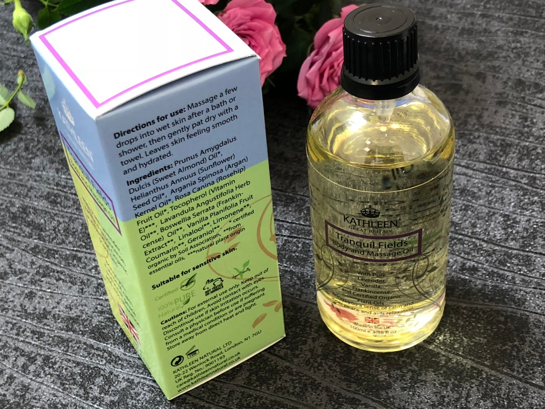 Kathleen Natural Tranquil Fields Body and Massage Oil