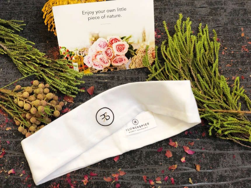 Flower and spice organic headband